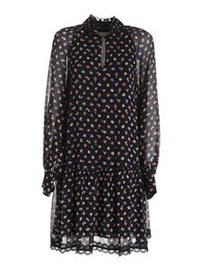 See by Chloé - Floral pattern dress in black