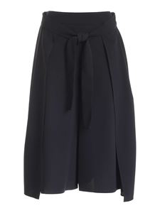See by Chloé - Cropped black pants with front ribbon