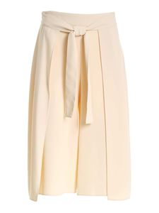 See by Chloé - Cropped beige pants with front ribbon