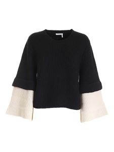 See by Chloé - Wide sleeves pullover in black and white