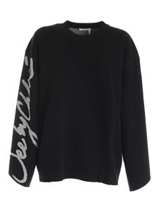 See by Chloé - Logo signature oversize sweater in black