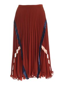 See by Chloé - Pleated skirt in brown