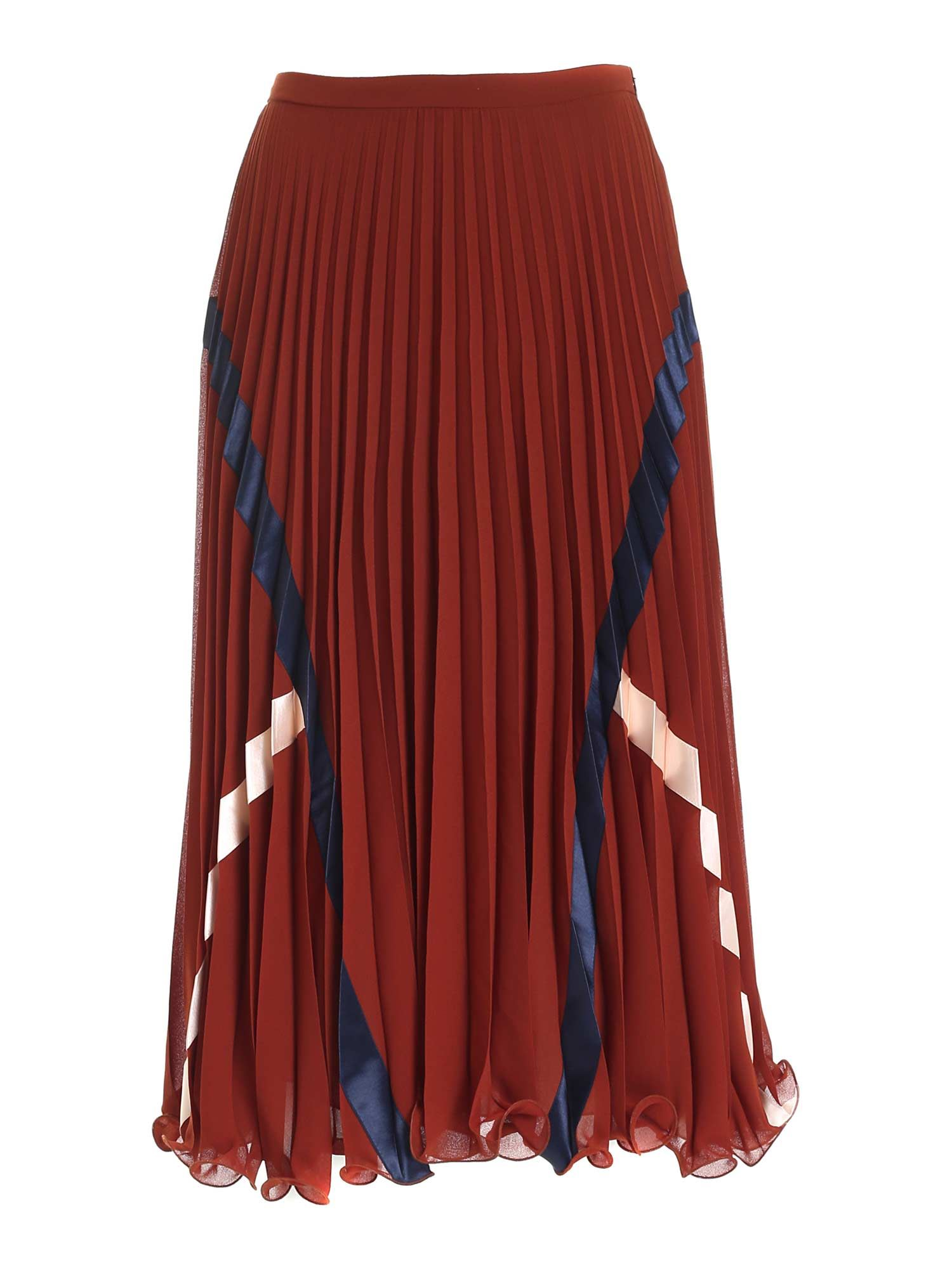 See By Chloé PLEATED SKIRT IN BROWN