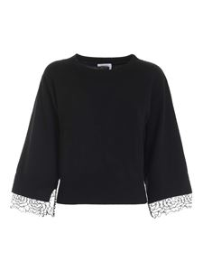 See by Chloé - Lace cuff pullover in black