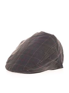 Barbour - Tartan waxed flat cap in grey