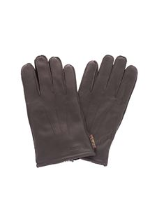 Barbour - Leather gloves in brown