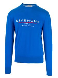 Givenchy - Pullover in lana color Ocean Blue