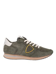 Philippe Model - Sneakers Trpx in nubuck verde