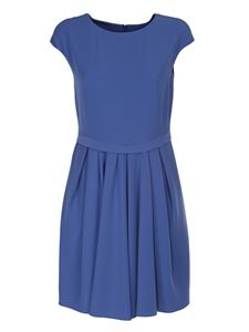 Emporio Armani - Cady dress with pleats in light blue