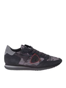 Philippe Model - Sneakers Trpx Camouflage nere