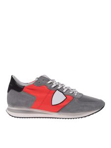 Philippe Model - Sneakers Trpx grigie e rosse