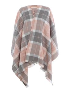 Barbour - Poncho in tartan rosa