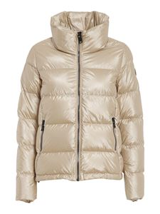 Colmar Originals - Padded coat with quilted collar in gold colour