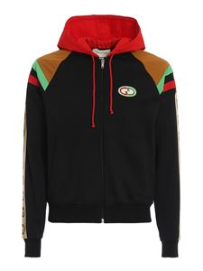 Gucci - Hooded cotton sweater in black