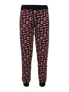 Kenzo - Logo print tracksuit bottoms in red