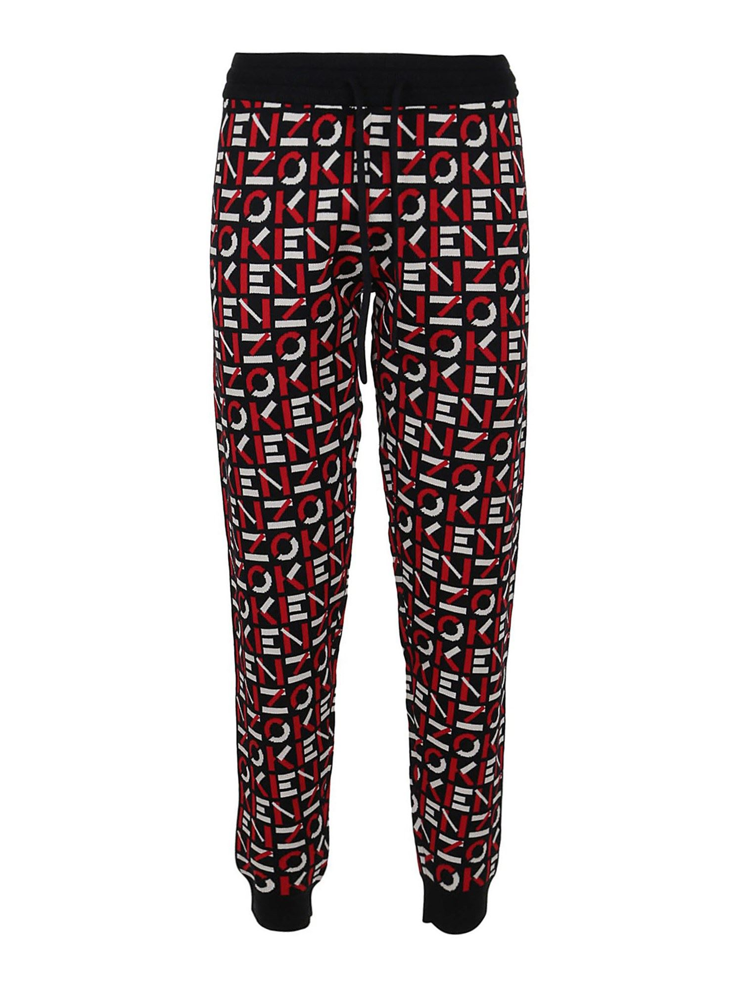 Kenzo LOGO PRINT TRACKSUIT BOTTOMS IN RED