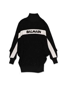 Balmain - High neck dress in black