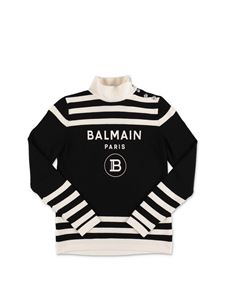 Balmain - Black and white sweater