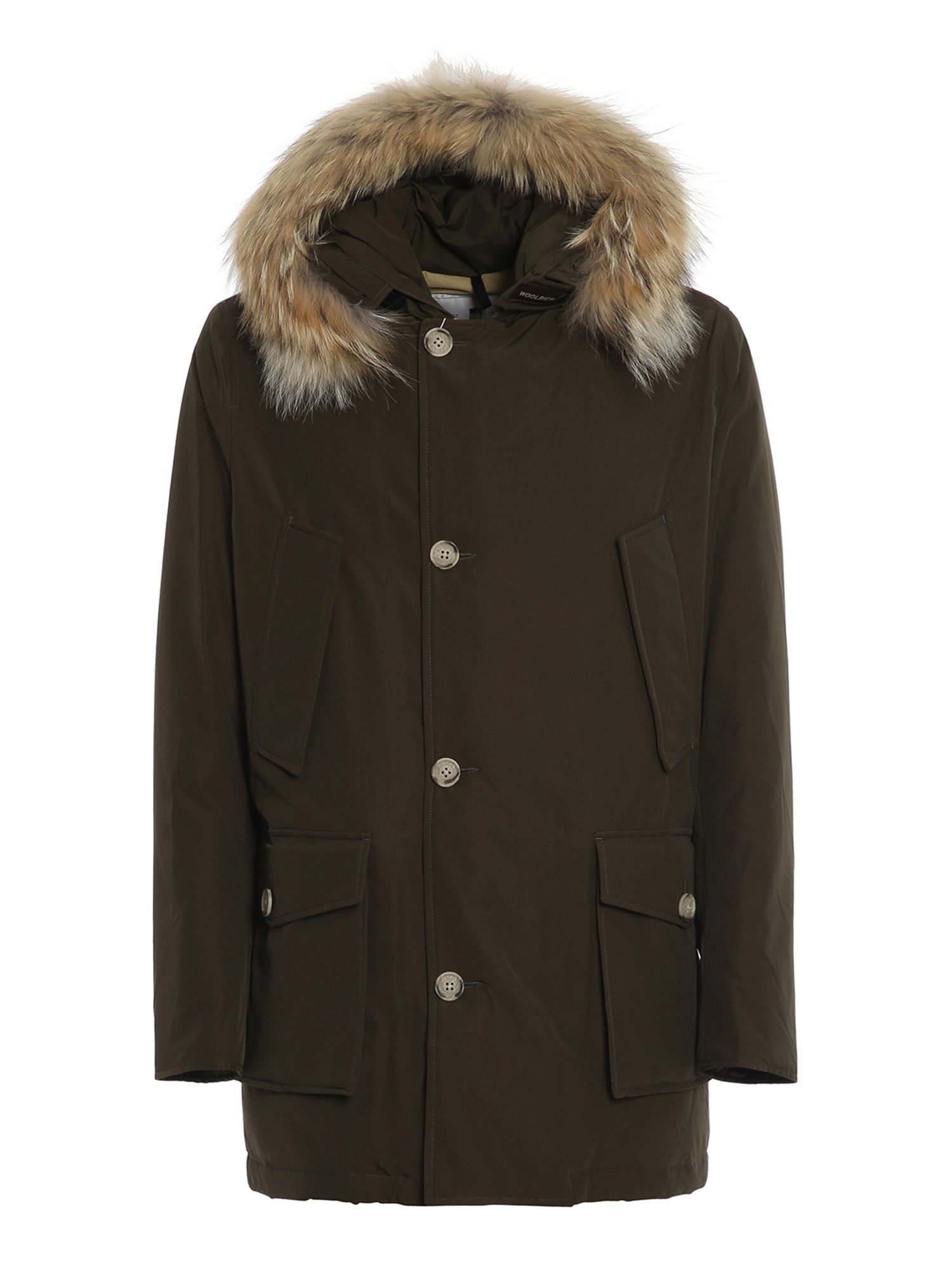 Woolrich Downs ARTIC PARKA DOWN JACKET IN BROWN