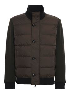 Woolrich - Padded bomber jacket in brown