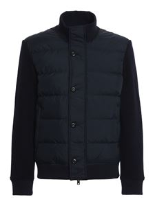 Woolrich - Padded bomber jacket in blue