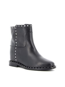 Via Roma 15 - 3405 Malibu leather boots in black
