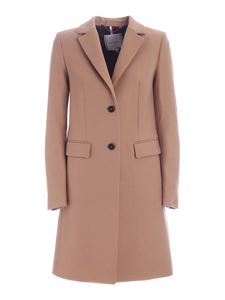 Tommy Hilfiger - Single-breasted coat in camel color