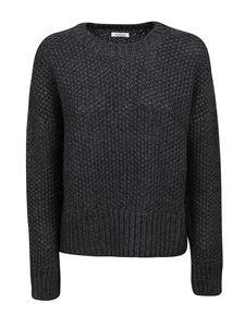 Parosh - Alpaca wool blend crewneck sweater in grey