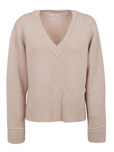 Parosh - Alpaca wool blend V-neck sweater in pink