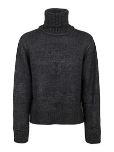 Parosh - Alpaca wool blend turtleneck in grey