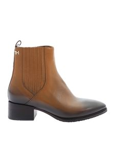 Tommy Hilfiger - Pointed ankle boot in camel color