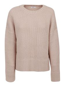 Parosh - Alpaca wool blend crewneck sweater in pink