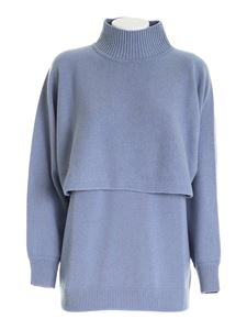 Peserico - Knitted twin-set in light blue