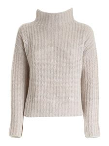 Peserico - Pullover effetto tricot beige