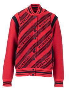 Givenchy - Logo bomber jacket in wool in red