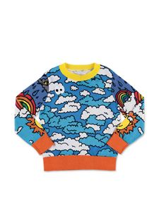 Stella McCartney Kids - Multicolor clouds pullover