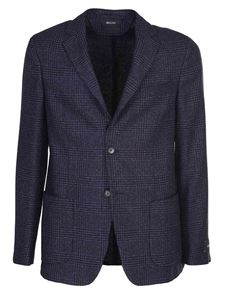 Z Zegna - Prince of Wales jacket in blue
