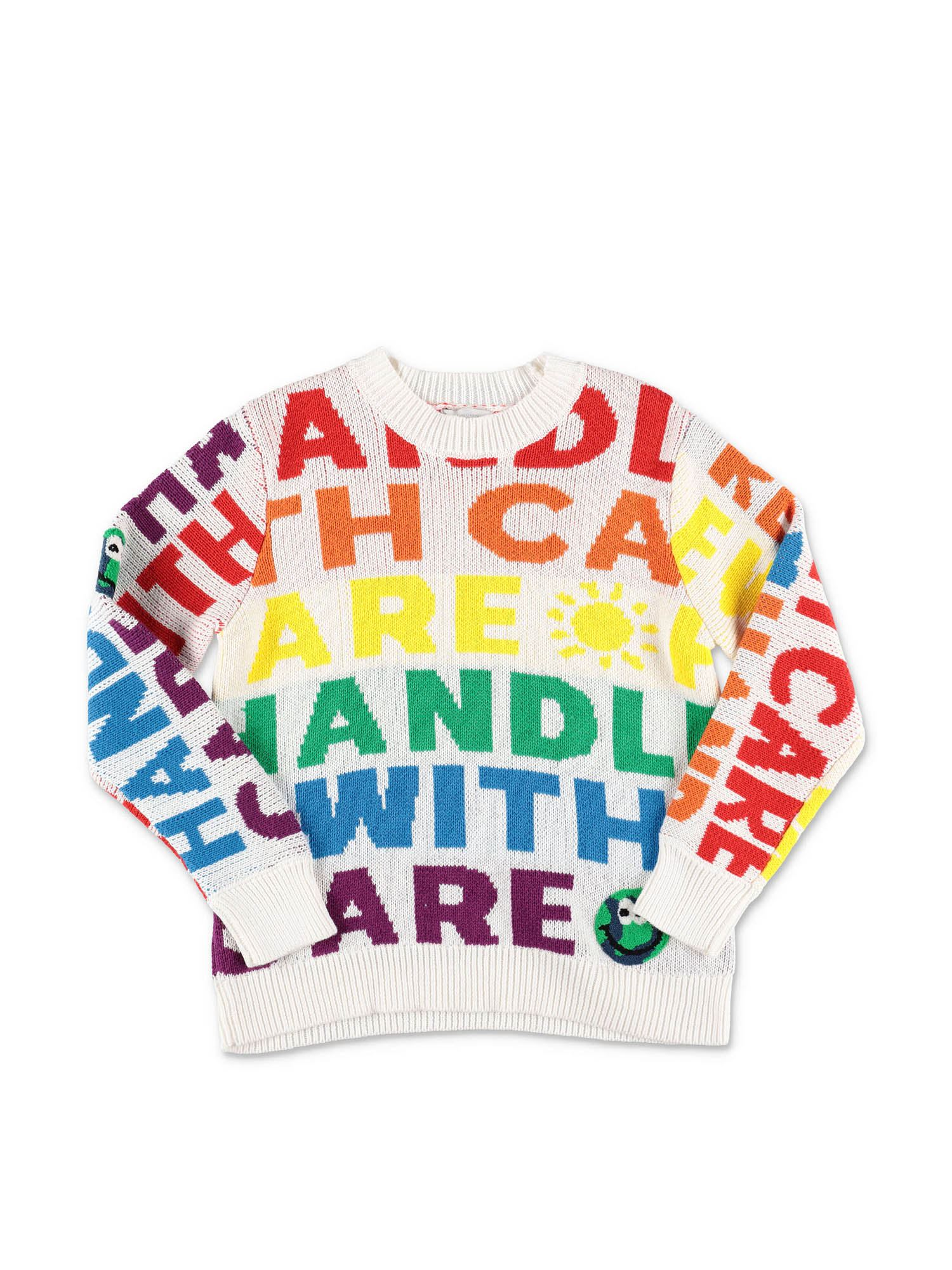 Stella Mccartney MULTICOLOR INTARSIA PULLOVER