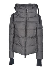 Herno - Crater-neck down jacket in grey