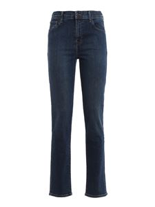 J Brand - Ruby 30 high-rise cigarette jeans in blue