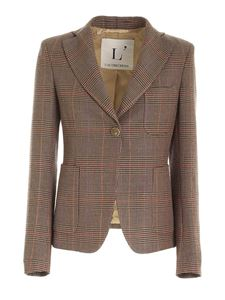 L'Autre Chose - Houndstooth jacket in brown