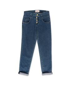 Alberta Ferretti - Blue jeans with gold buttons