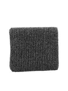 Paolo Fiorillo - Lamé details scarf in black and grey