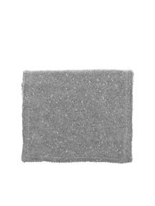Paolo Fiorillo - Lamé details scarf in grey