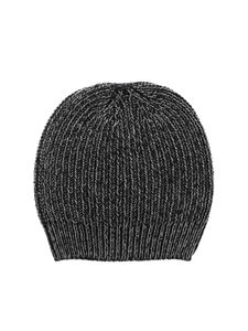 Paolo Fiorillo - Lamé details beanie in black and grey