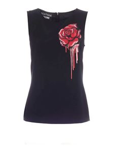 Moschino Boutique - Sleeveless blouse in black