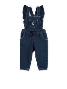 Chloé - Blue dungarees with embroidery