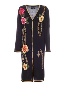 Moschino Boutique - Abito Flowers and Chains nero