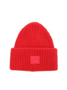Acne Studios - Pansy N Face beanie in red
