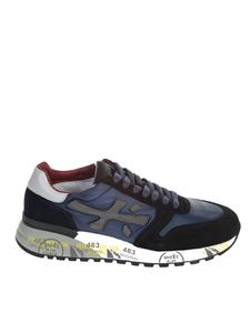 "Premiata - Suede ""MICK"" sneakers in blue"